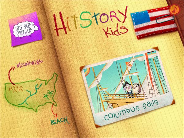 HitStory Kids - Columbus Sails educational toddler app