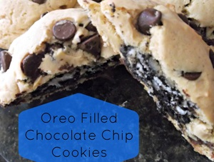 Oreo Filled Chocolate Chip Cookies