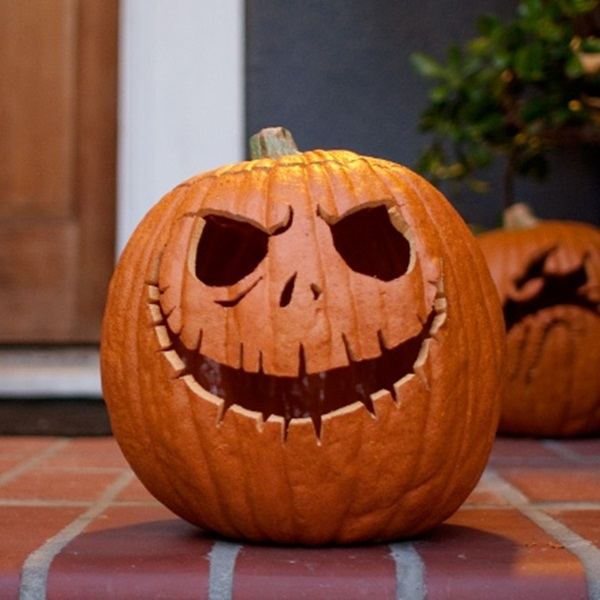Pumpkin Carving Template Jack Skellington