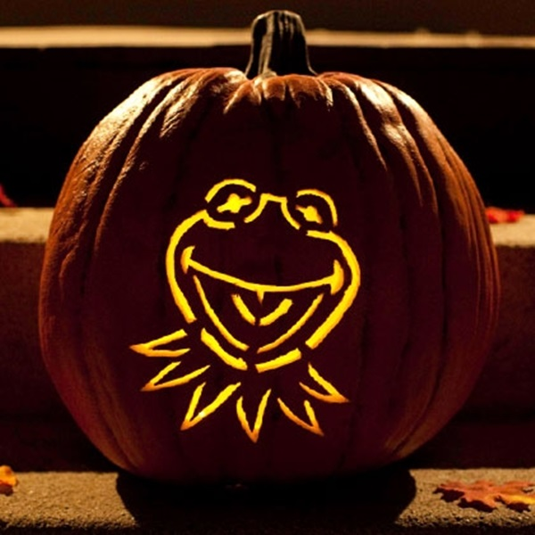 Pumpkin Carving Template Kermit The Frog