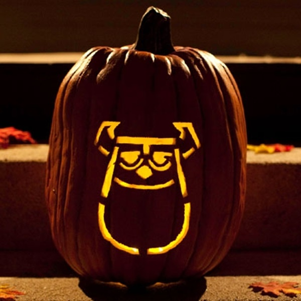 Cool disney inspired pumpkin carving ideas for Sully pumpkin template