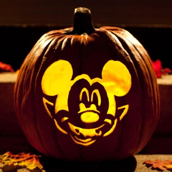 Pumpkin Carving Template Vampire Mickey