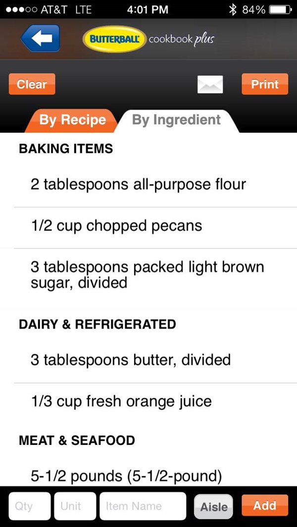 Butterball Cookbook Plus App Review