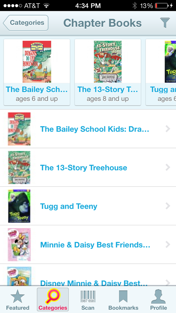 Shop for Kids book choices