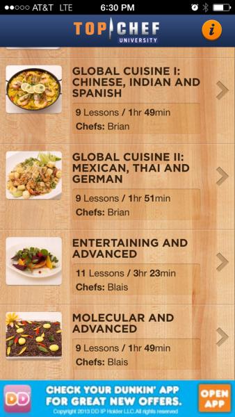 Top Chef Advanced App