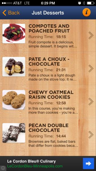 Top Chef App Desserts