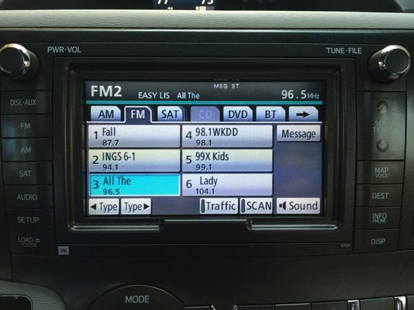 Toyota Sienna Radio