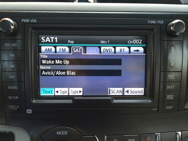 Toyota Sienna Sirius XM