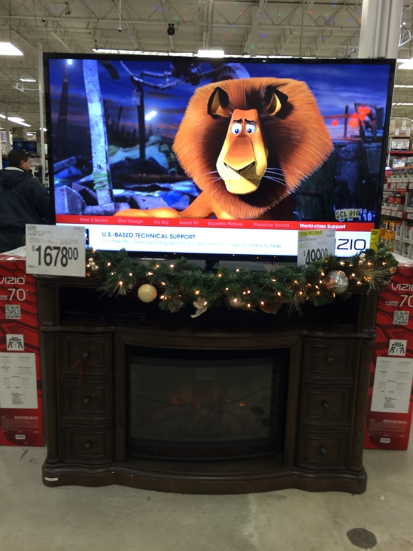 Sam's Club Fireplace and TV