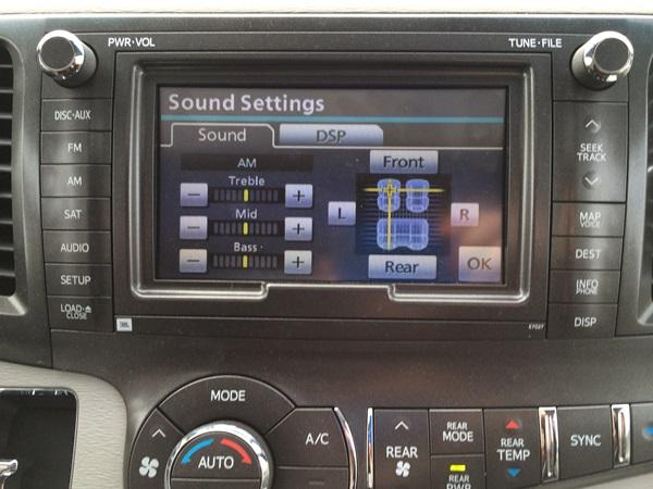Toyota Sienna Sound
