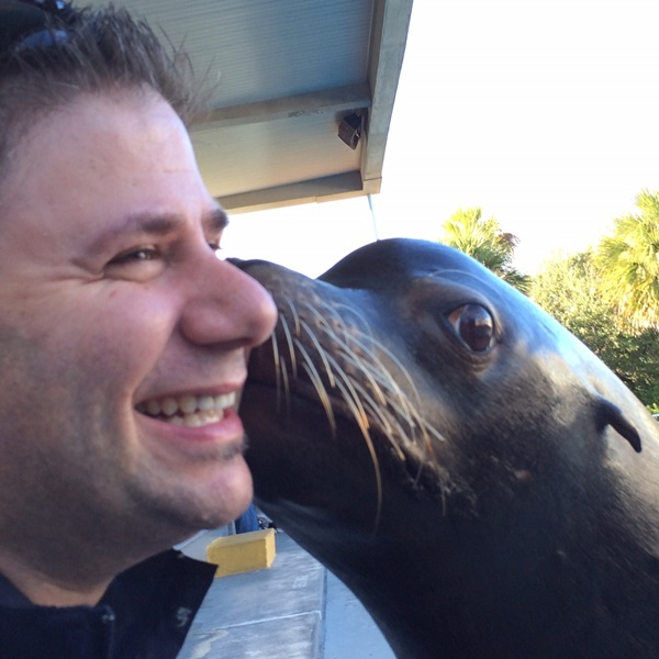 Gulf World Sea Lion Kiss
