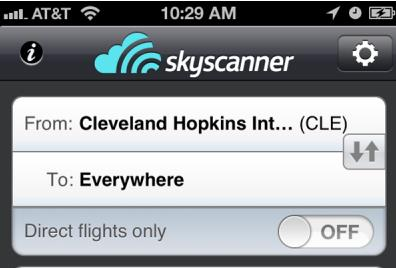 Search All Flights With Sky Scanner