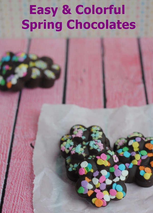 Easy & Colorful Spring Chocolates