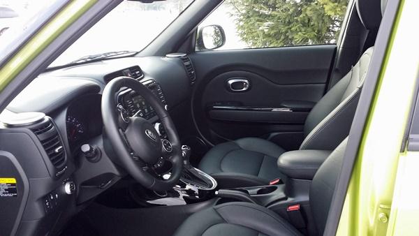 Kia Soul drivers seat