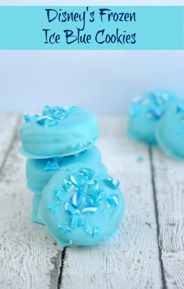 Disney S Frozen Recipe Cute Ice Blue Cookies