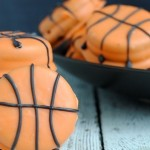 March Madness Slam Dunk Basketball Cookies Featured