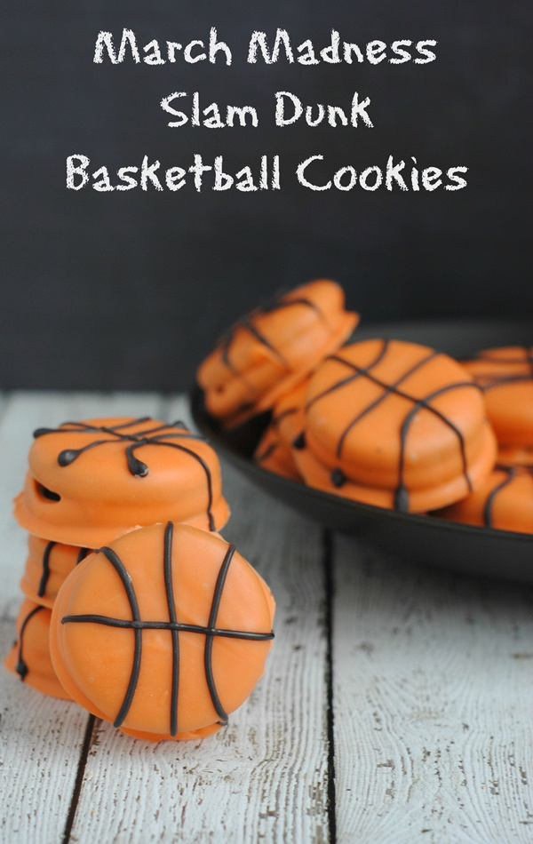 March Madness Slam Dunk Basketball Cookies
