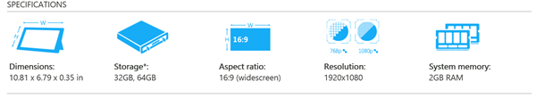 Surface 2 Specs
