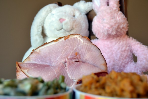 Honey Baked Ham Dinner Close Up