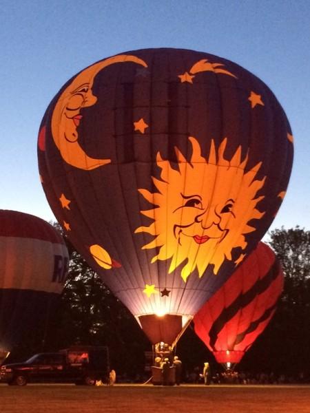 Chagrin Falls Balloon Glow Sun Moon Balloon
