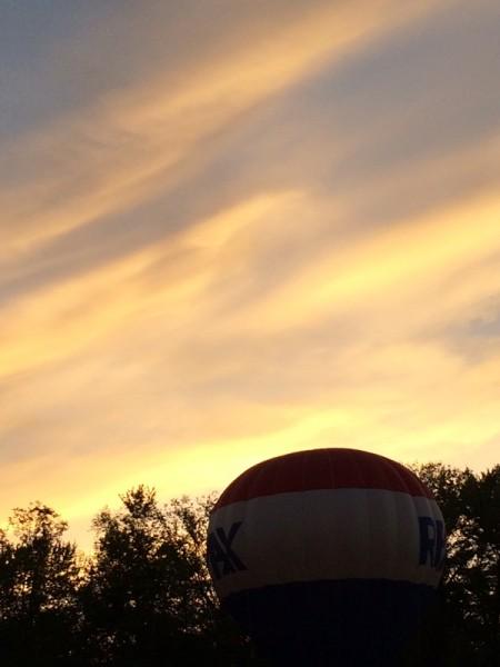 Chagrin Falls Balloon Glow Sunset