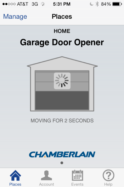 Chamberlain MyQ App Garage Door Closing