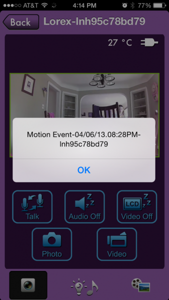 Little Link Video Baby Monitor Motion Detection Notification