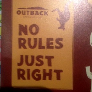 Outback No Rules Just Right