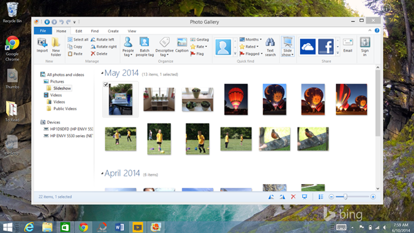 Windows Photo Gallery Slideshow