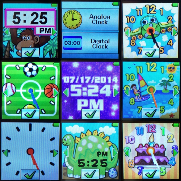 Vtech Kidizoom Smartwatch Clock Displays