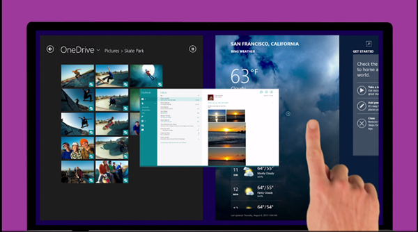 Windows 8.1 Snap Apps Together