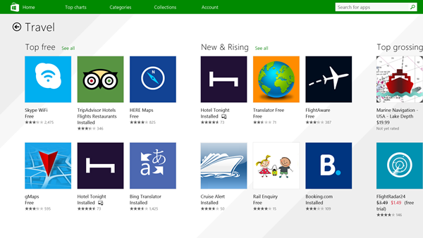 Windows Store Travel