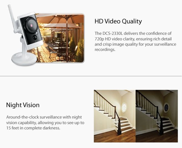 Dlink Video and Night Vision