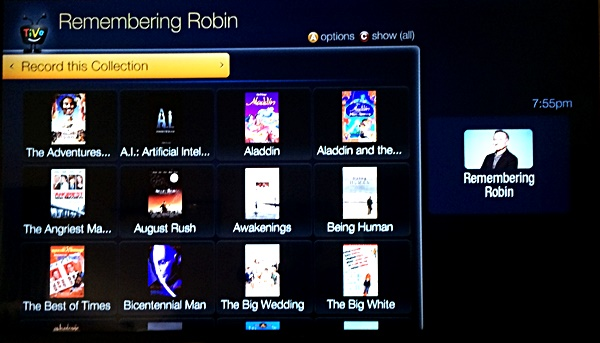 TiVo Collections Remembering Robin
