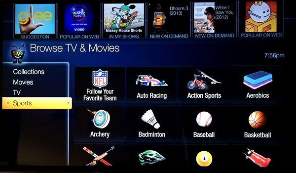 TiVo Collections Sports