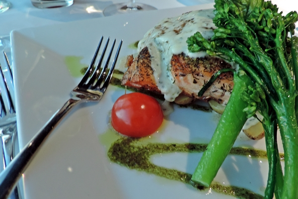 Grand Traverse Resort Lemon Pepper and Dill Crusted Salmon