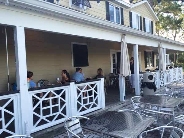 Gulf County Port Inn Breakfast On Porch