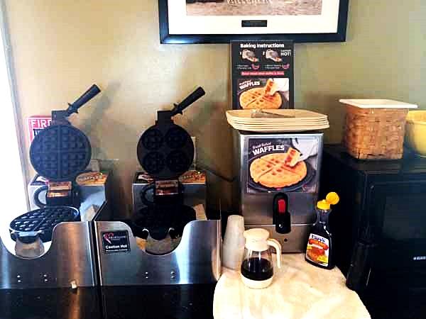 Gulf County Port Inn Breakfast Waffles
