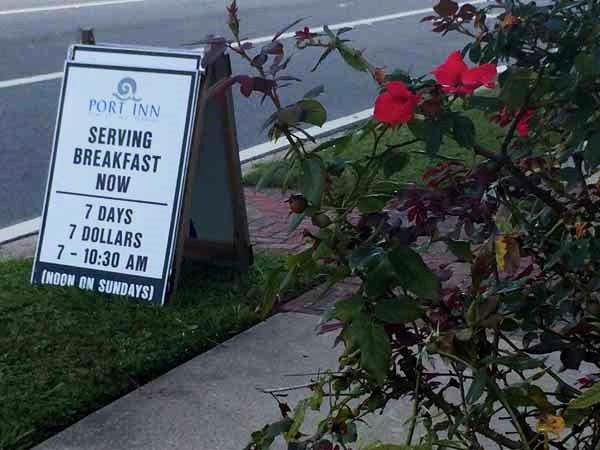 Gulf County Port Inn Breakfast