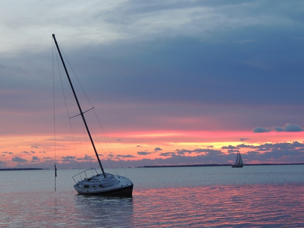Gulf County Sailboat Sunset
