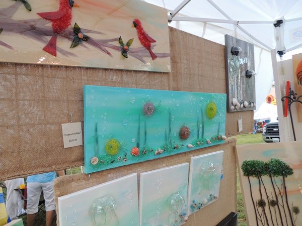 Gulf County Scallop Festival Art Glass Vendor