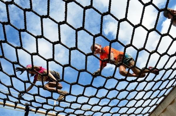 Swampfoot 4Mile Kids Run Rope Bridge