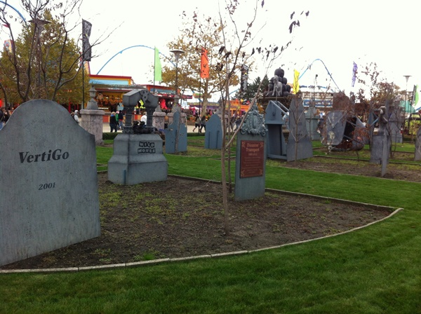 Halloweekends Cedar Point Old Ride Graveyard