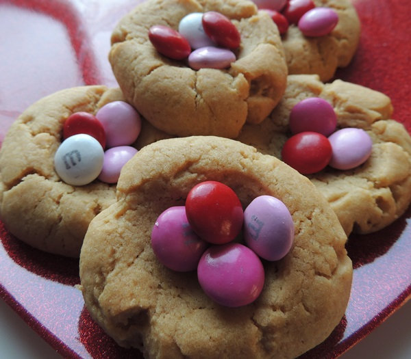 VAlentine's Day Peanut Butter Cookies