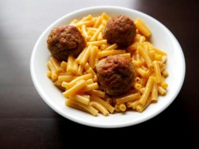 Easy Meatball Mac & Cheese