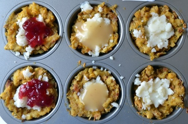Easy Thanksgiving Recipe: Mashed Potato Stuffing Cups