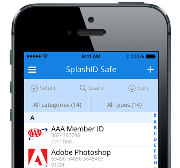 Keep Your Passwords & Sensitive Information Safe With SplashID