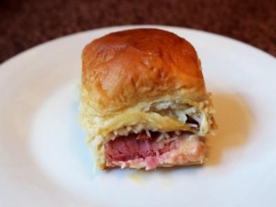 Hawaiian Ham Bacon Swiss Sliders