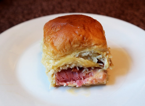 Easy Brunch Recipe Idea: Ham, Bacon, & Swiss Sliders