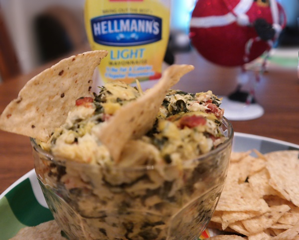Creamy Hot Artichoke, Spinach, & Bacon Dip